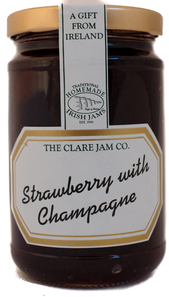 the clare jam co strawberry champagne front scaled
