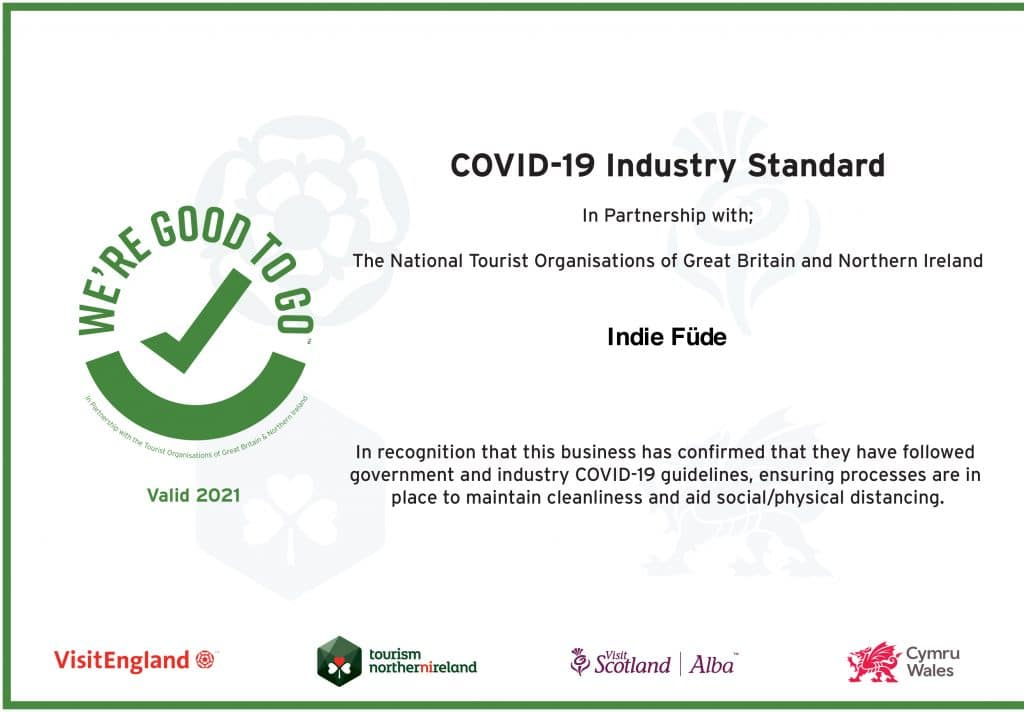 We re Good To Go certificate